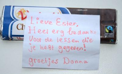 Bedankt Donna - schrijfletters