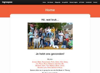 website ingroepzes - schrijfletters